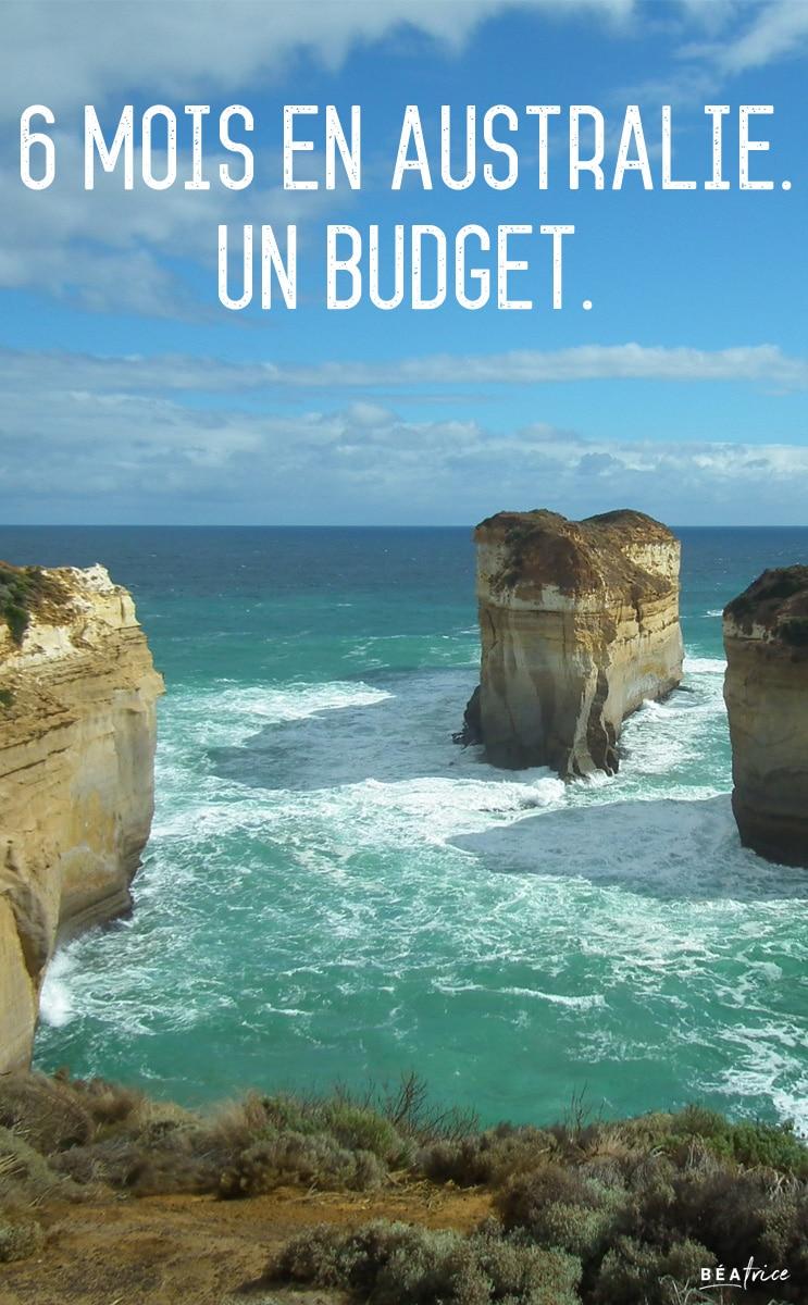 Image pour Pinterest : budget six mois en Australie