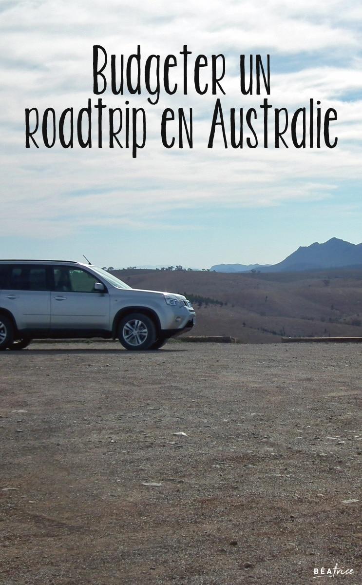 Image pour Pinterest : budget roadtrip Australie