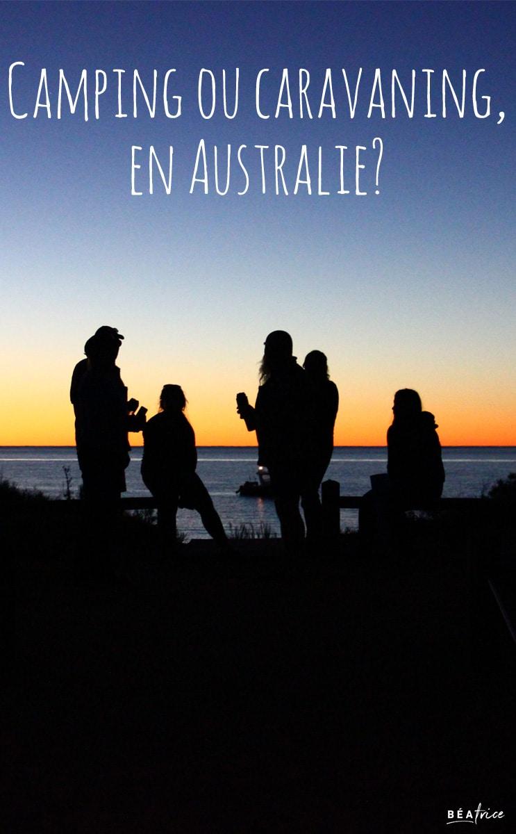 Image pour Pinterest : camping caravaning Australie
