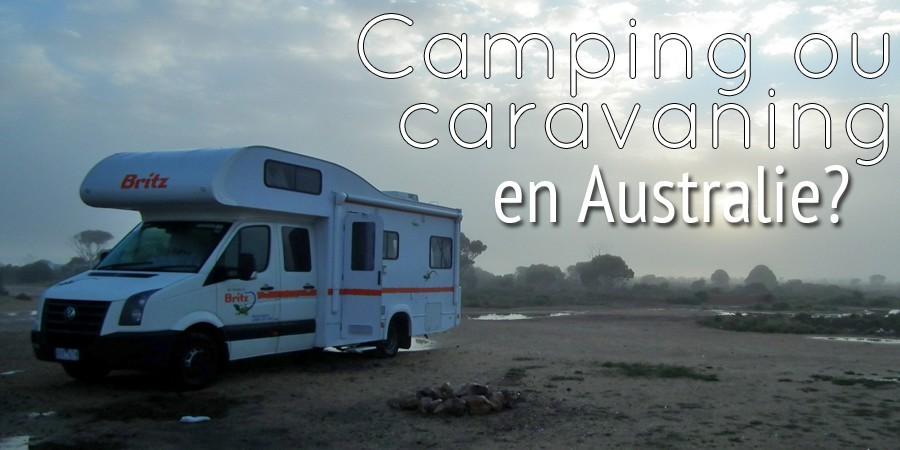 Camping ou caravaning, en Australie?