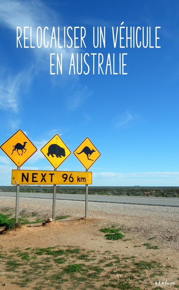 Image pour Pinterest : relocalisation de véhicule Australie