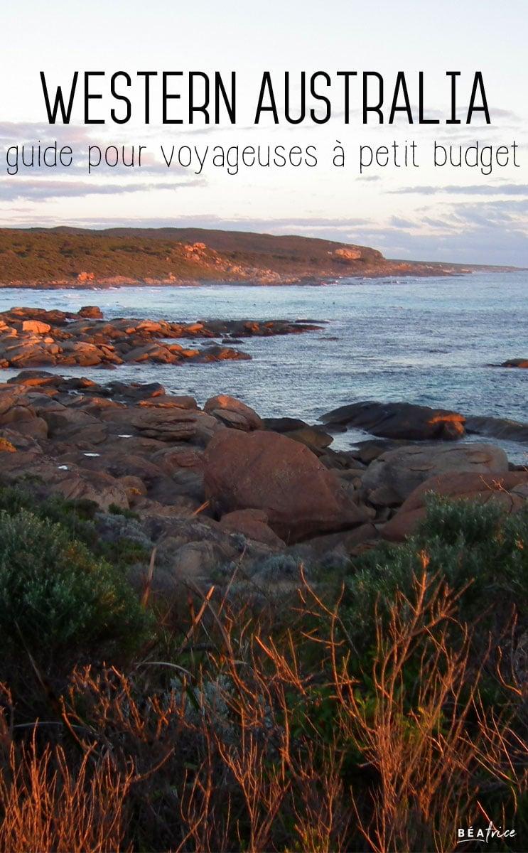 Image pour Pinterest : Western Australia petit budget
