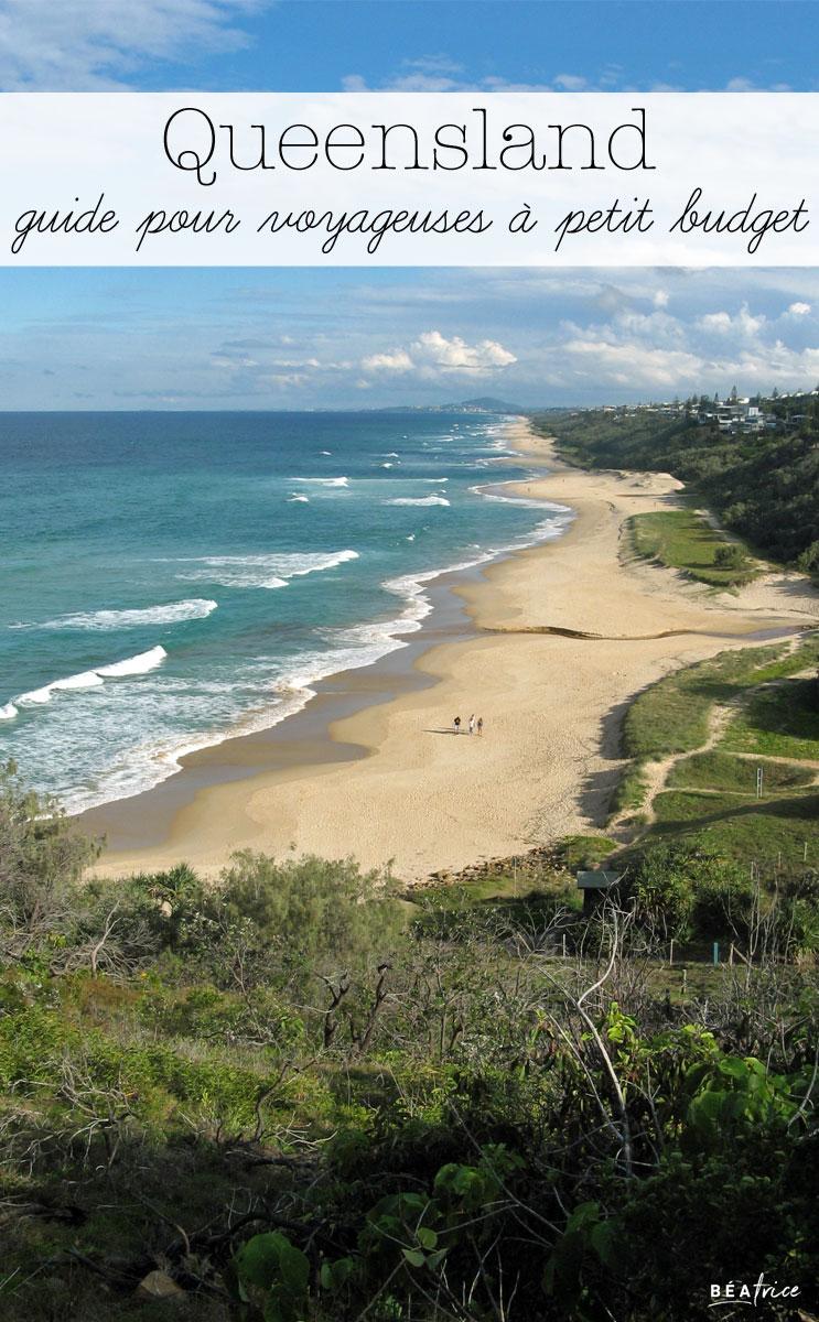 Image pour Pinterest : Queensland petit budget
