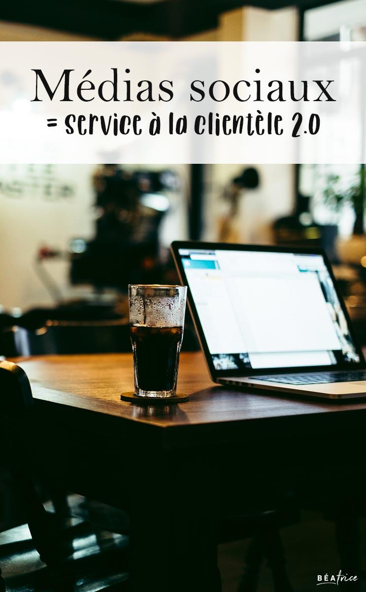 Image pour Pinterest : service à la clientèle médias sociaux