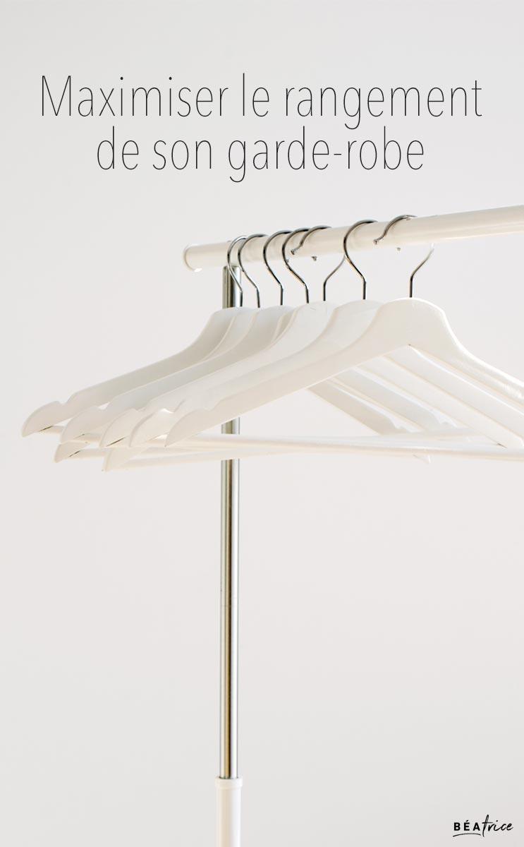 Image pour Pinterest : rangement garde-robe