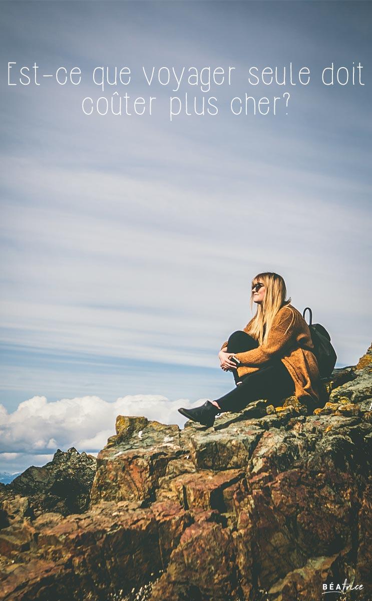 Image pour Pinterest : voyager seule