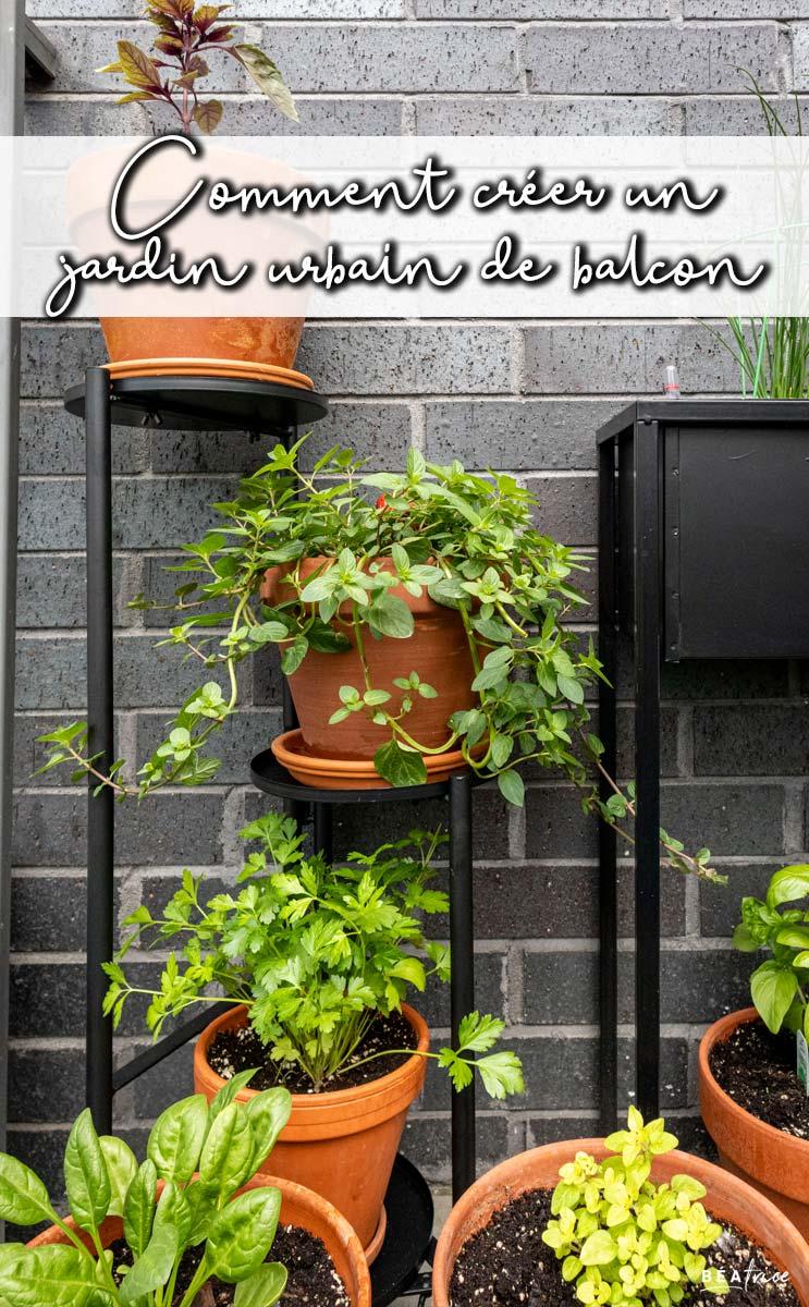 Image pour Pinterest : jardin urbain