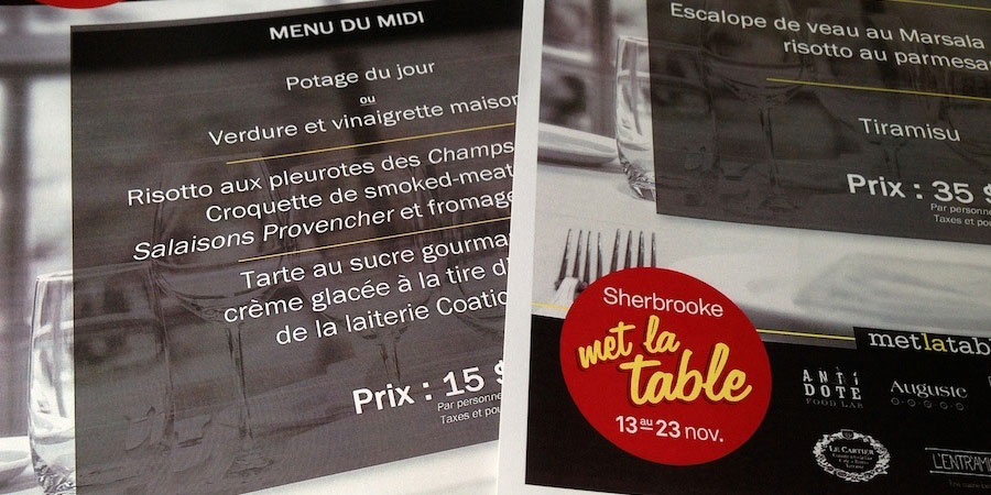 sherbrooke met la table