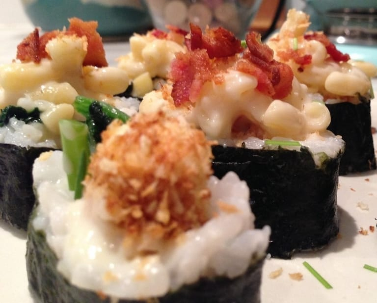 sushi mac and cheese