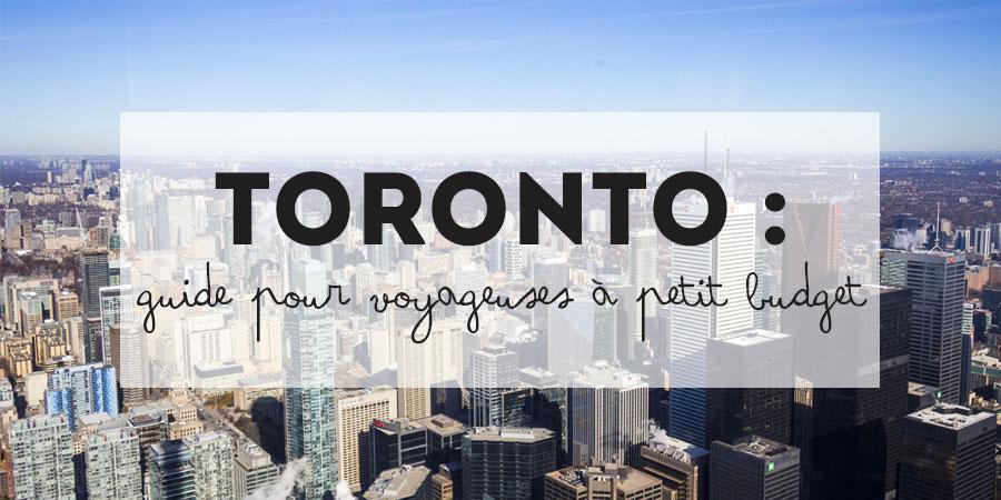 Toronto petit budget