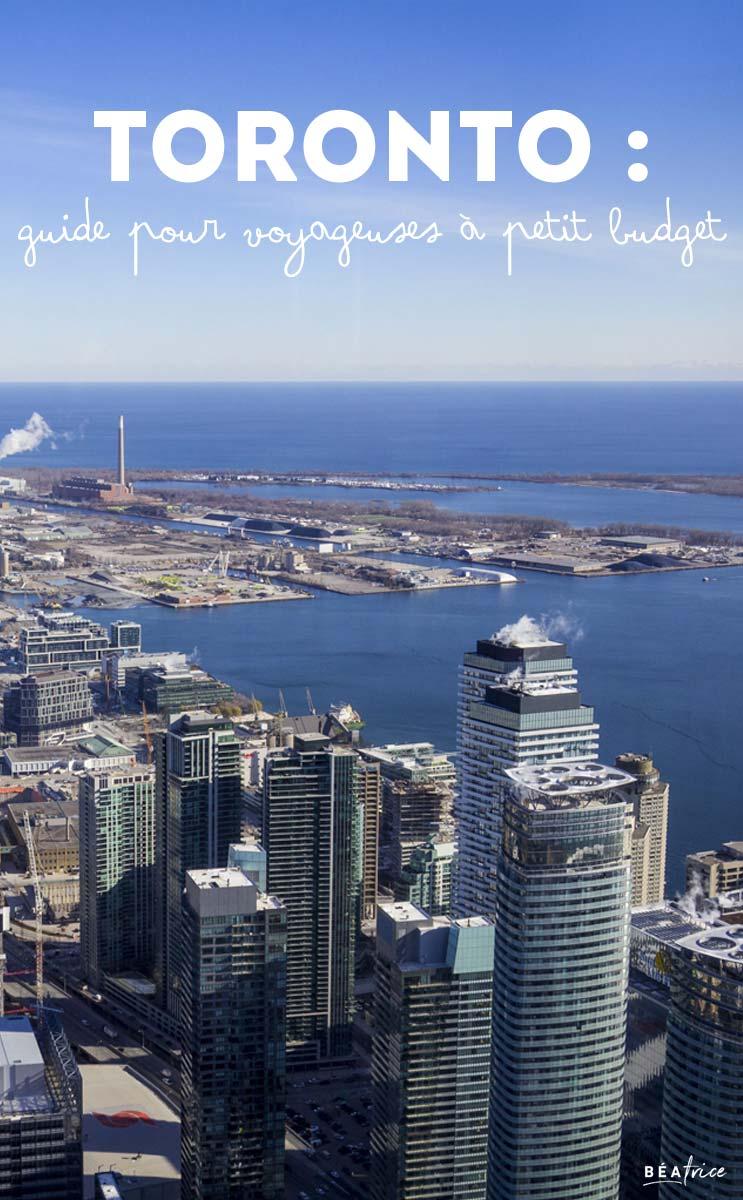 Image pour Pinterest : Toronto petit budget