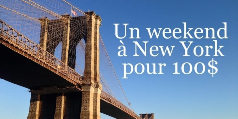 weekend à New York pour 100$