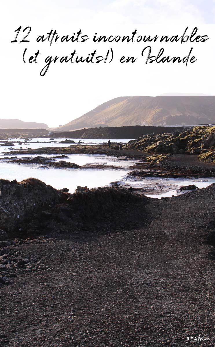 Image pour Pinterest : gratuit en Islande