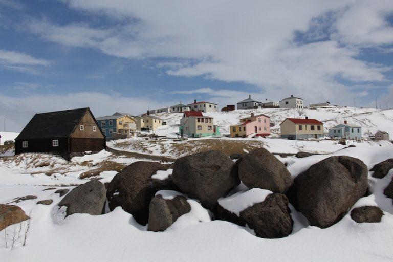 Paysage d'Islande en avril