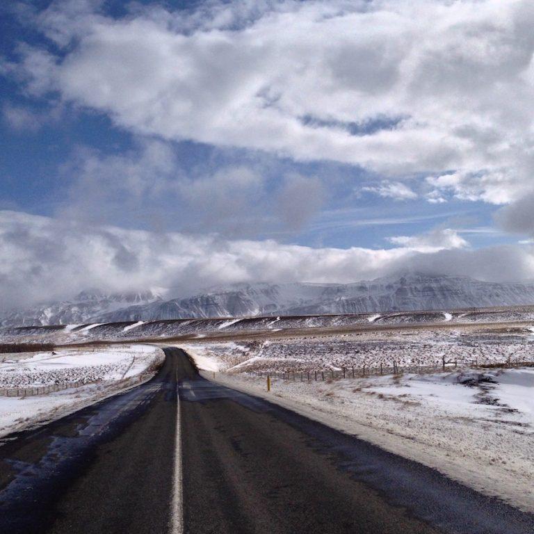 route d'Islande en avril