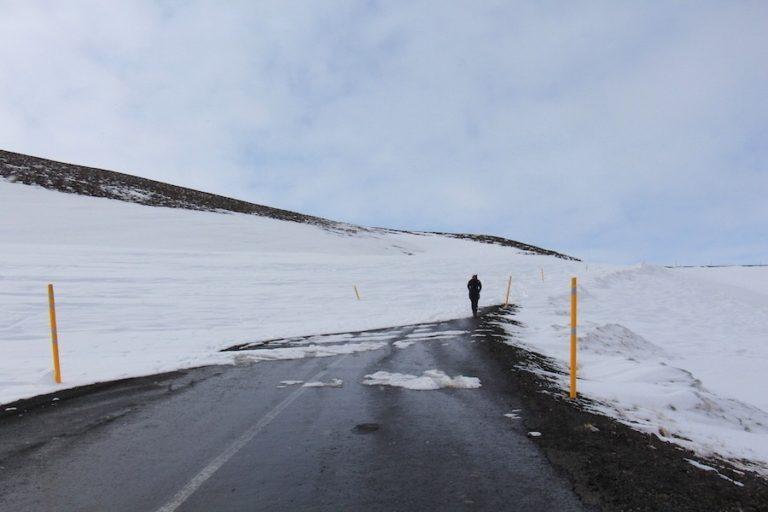 Route fermée en Islande en raison de la neige