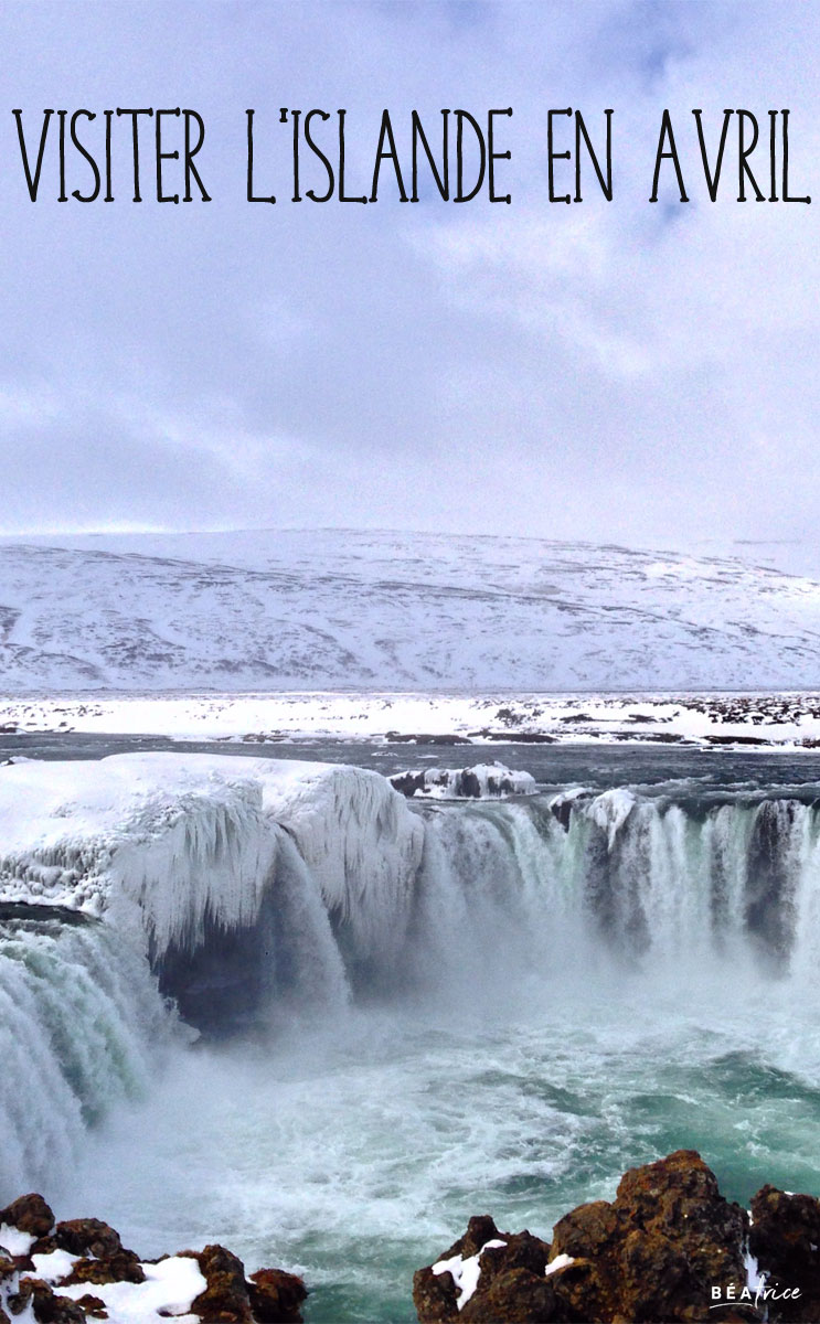 Image pour Pinterest : Islande en avril