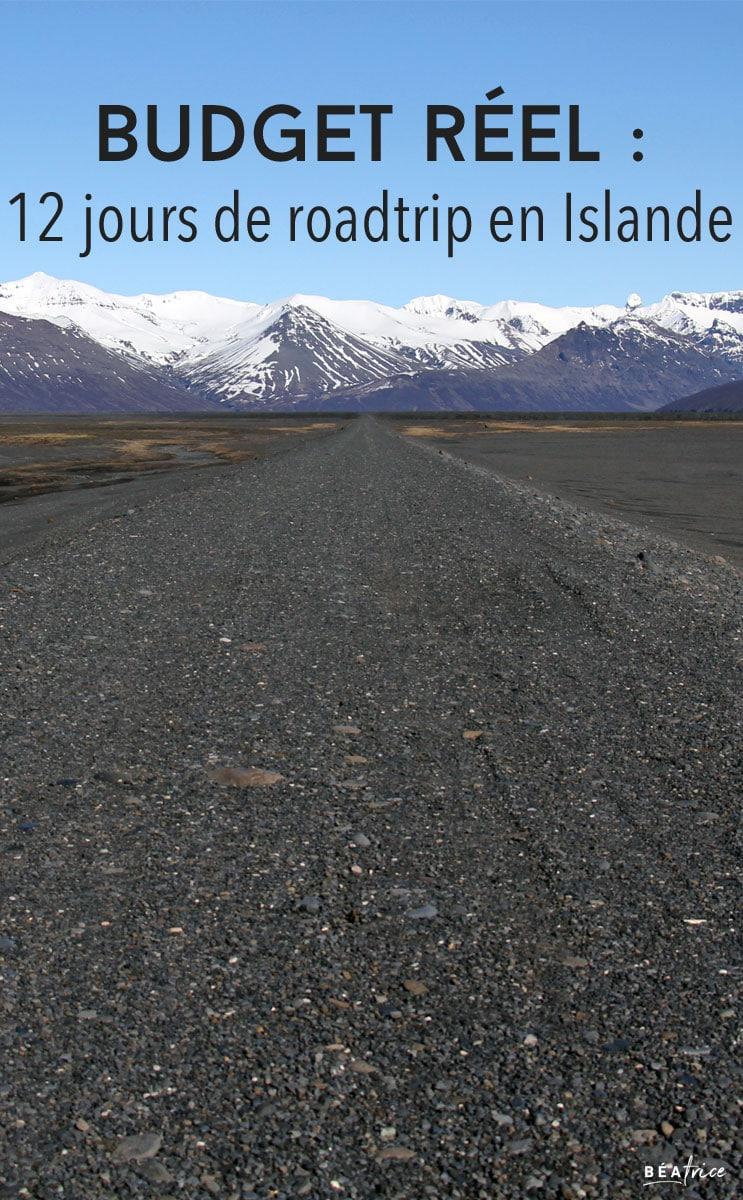 Image pour Pinterest : budget voyage en islande