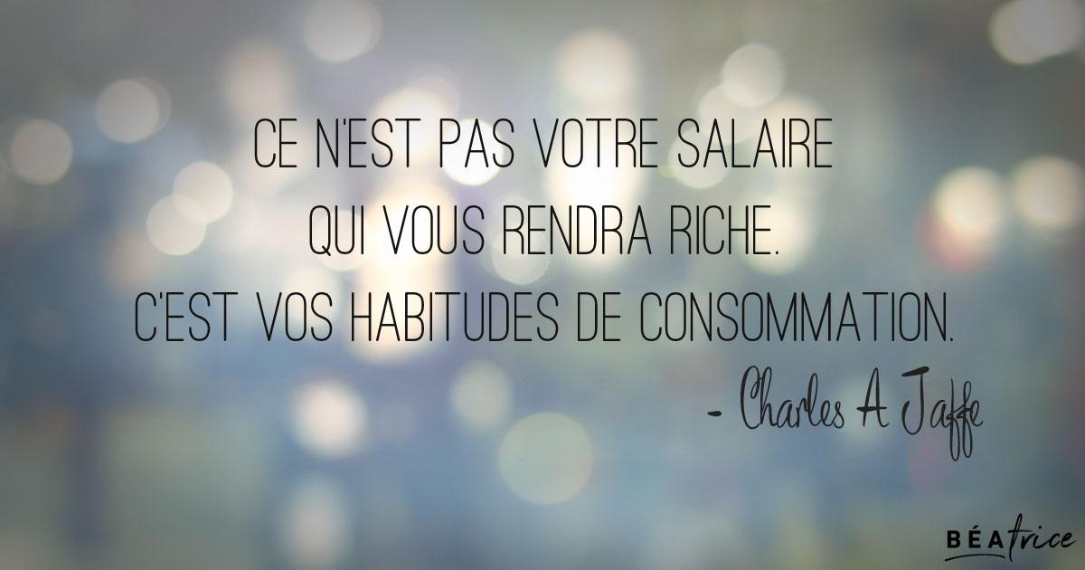 richesse salaire habitudes de consommation