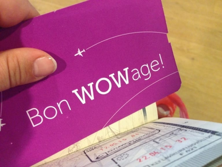 Carte d'embarquement Wow Air