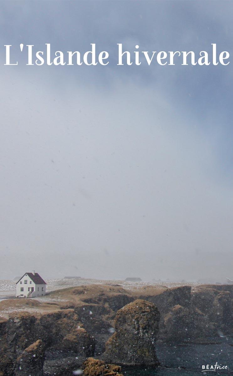 Image pour Pinterest : Islande hiver