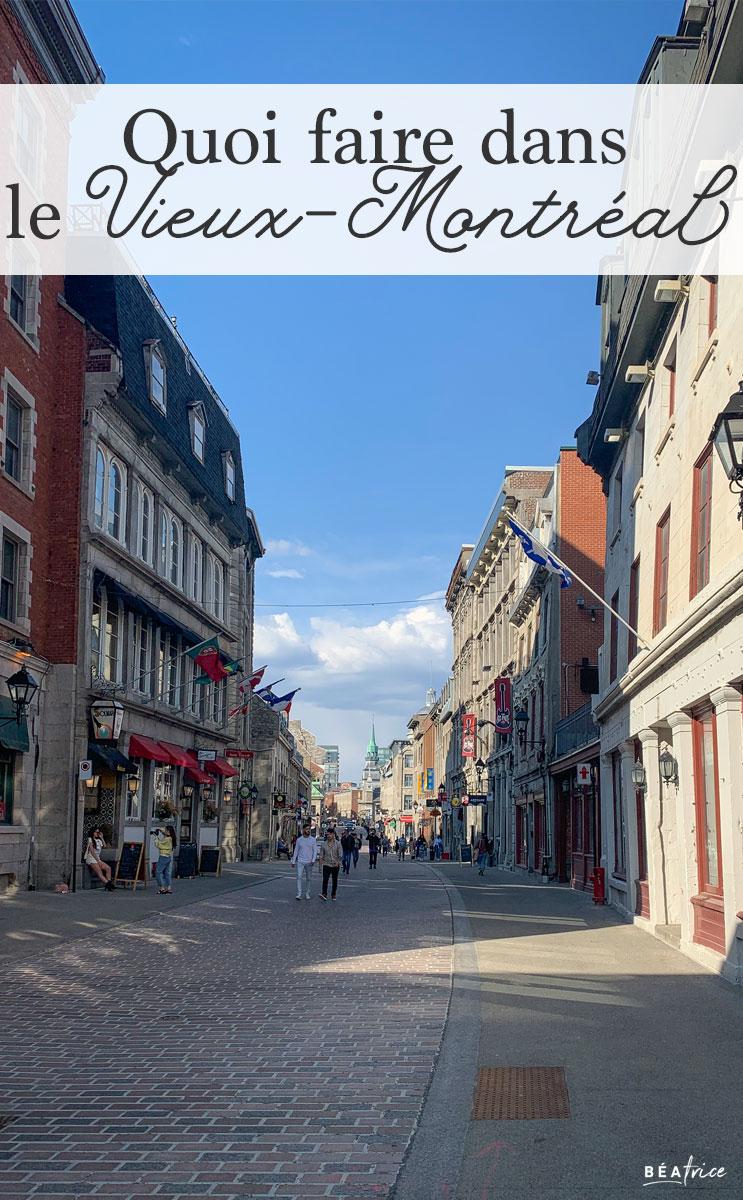 Image pour Pinterest : Vieux-Montréal