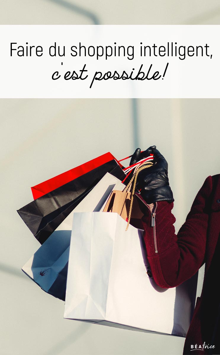 Image pour Pinterest : shopping intelligent