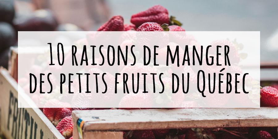 10 raisons de manger des baies du Québec