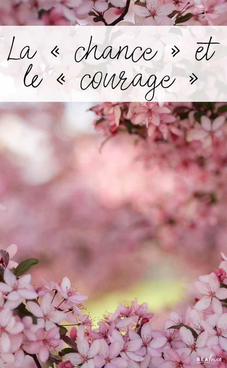 Image pour Pinterest : chance et courage