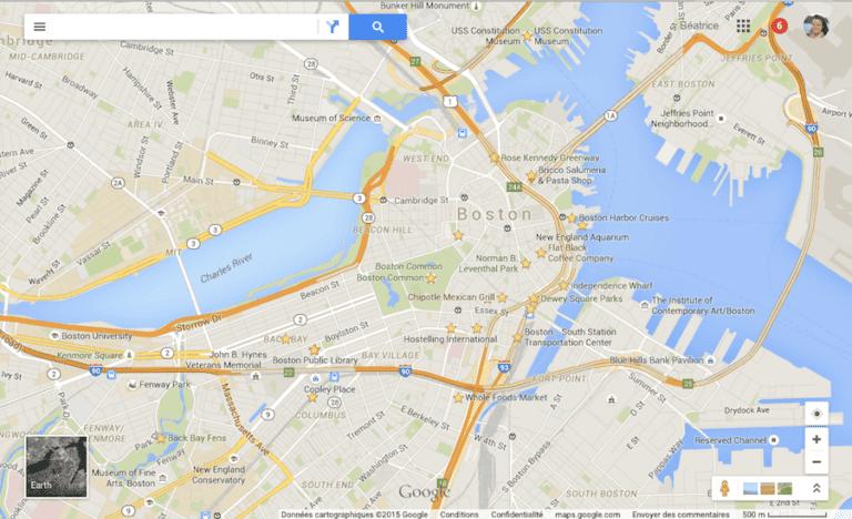 Google Maps en voyage