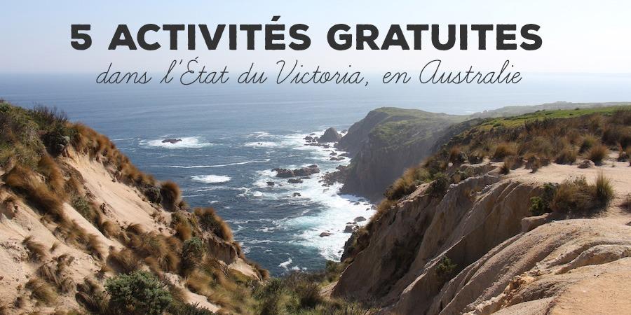 5 activités gratuites dans l'État du Victoria, en Australie