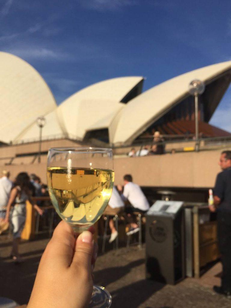 Vin au Opera House à Sydney voyager petit budget