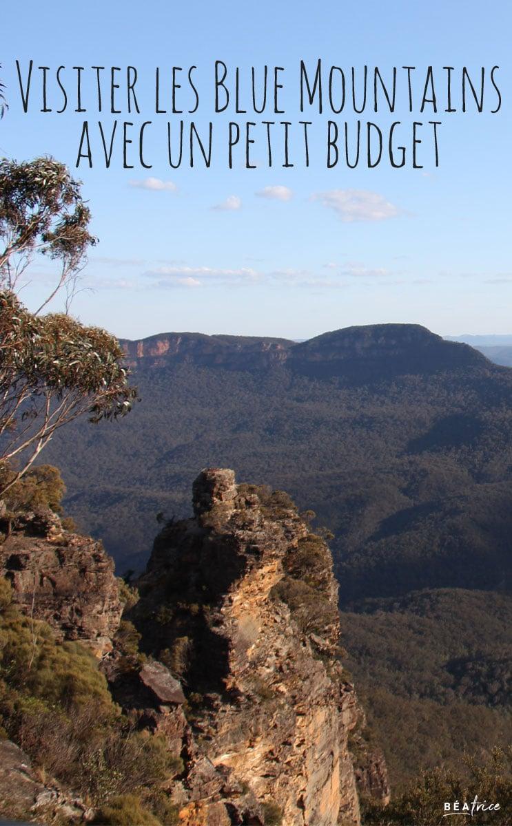 Image pour Pinterest : Blue Mountains petit budget