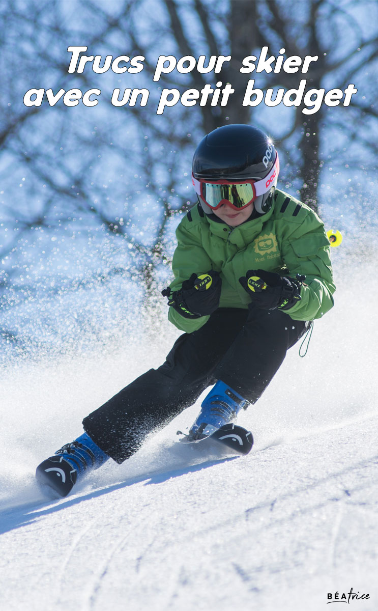 Image pour Pinterest : ski pas cher