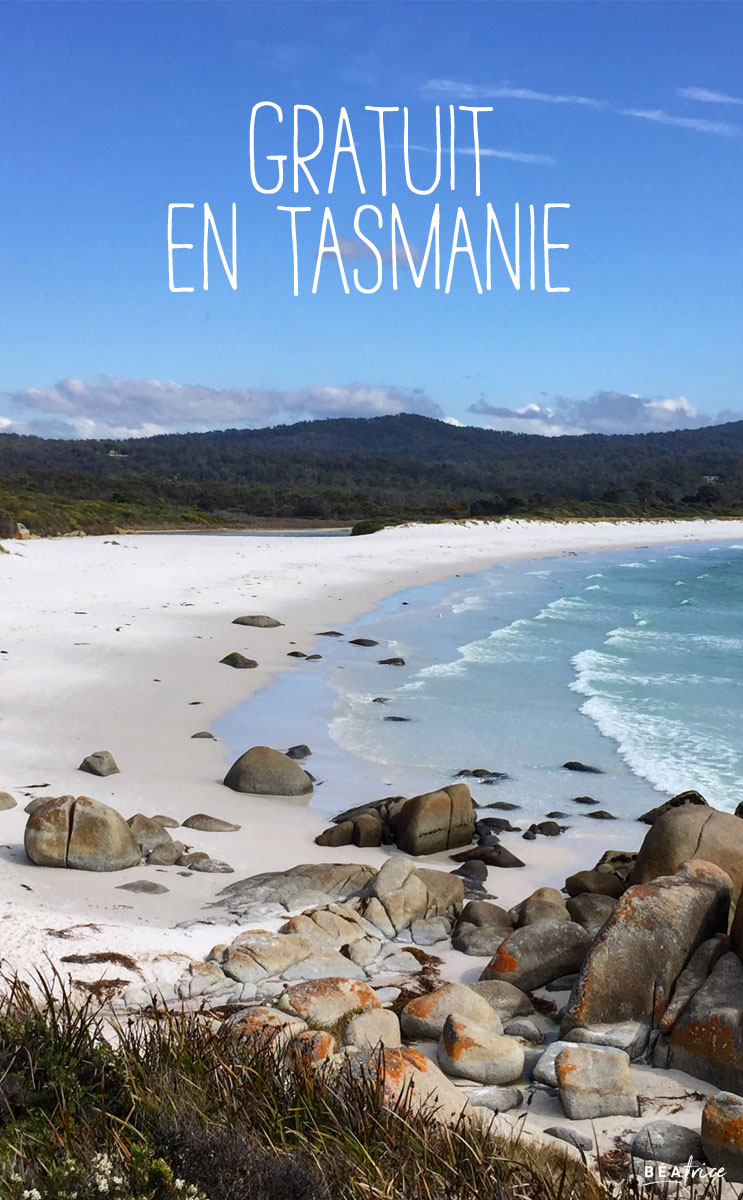 Image pour Pinterest : gratuit en Tasmanie