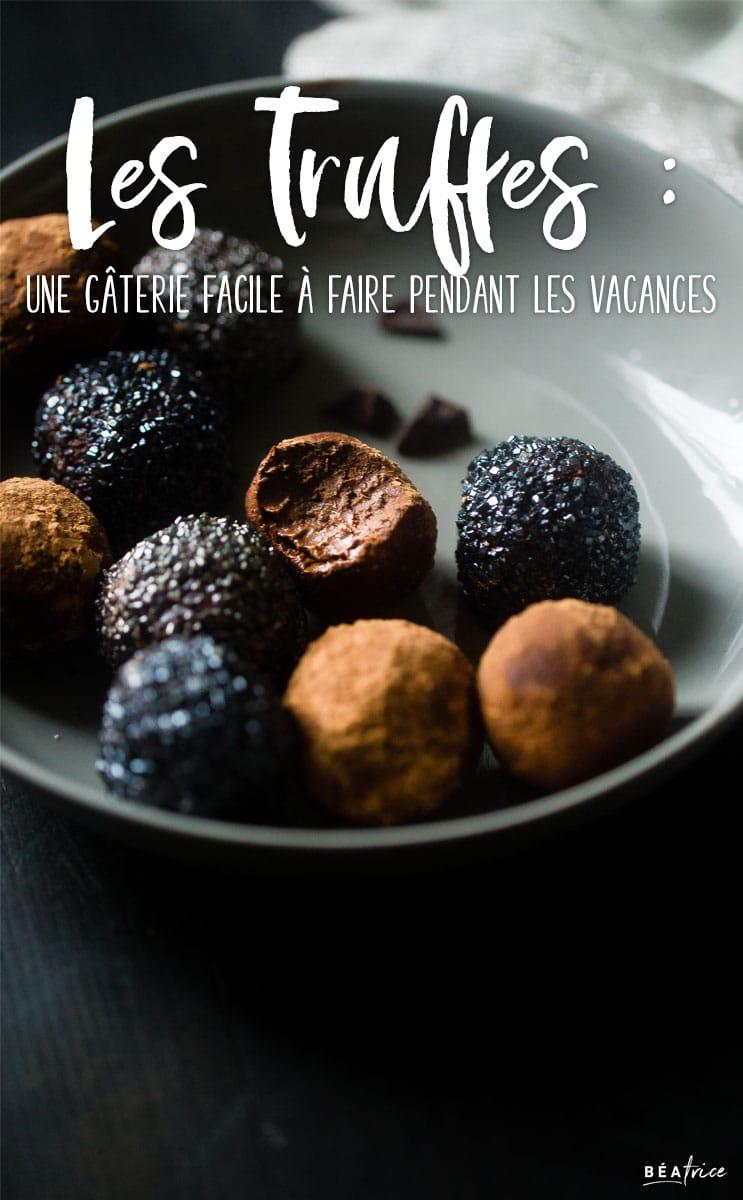 Image pour Pinterest : recettes de truffes