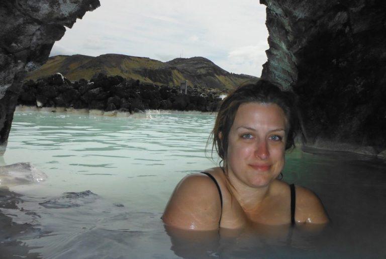 Grotte au Blue Lagoon en Islande