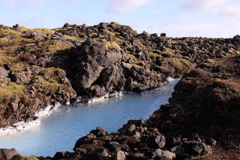 Terrain du Blue Lagoon en Islande