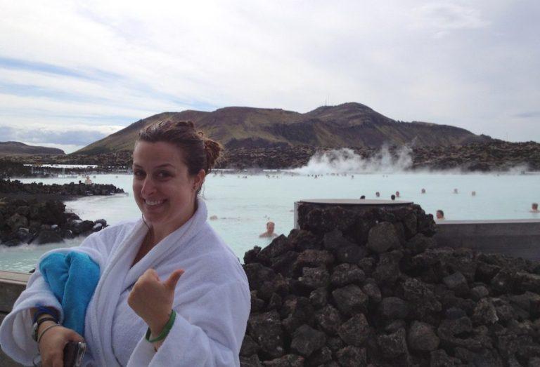 Moi au Blue Lagoon Islande