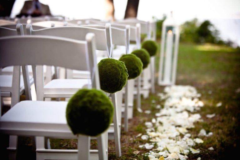 Chaises à un mariage