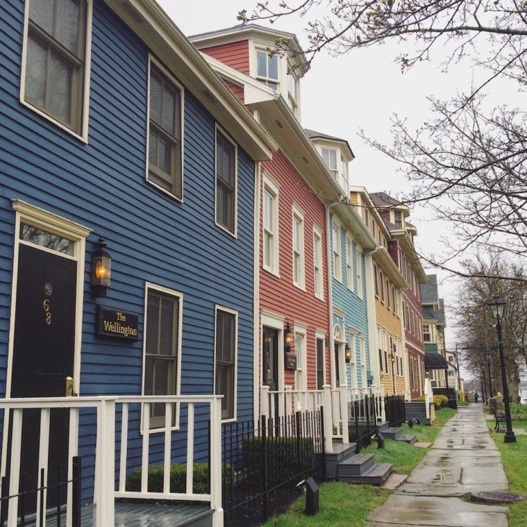 Maisons colorées à Charlottetown