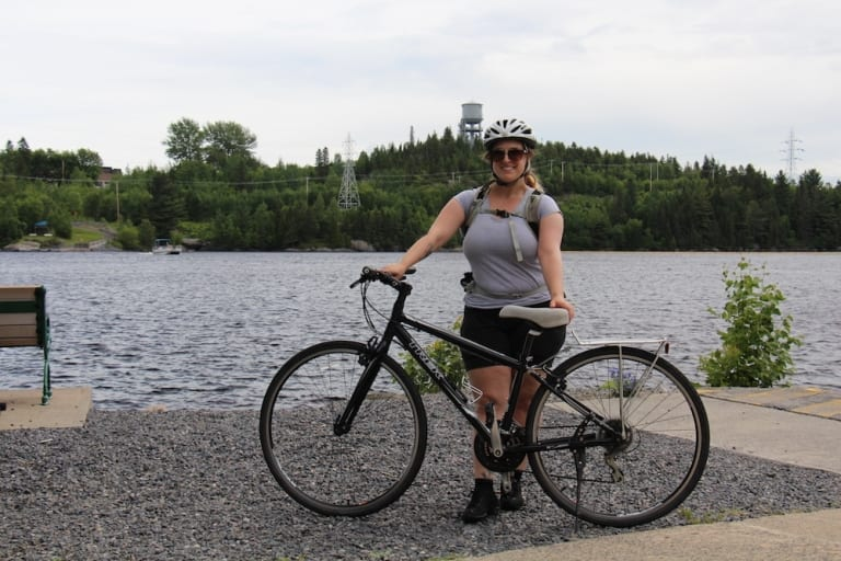 Moi en vélo au Lac-St-Jean