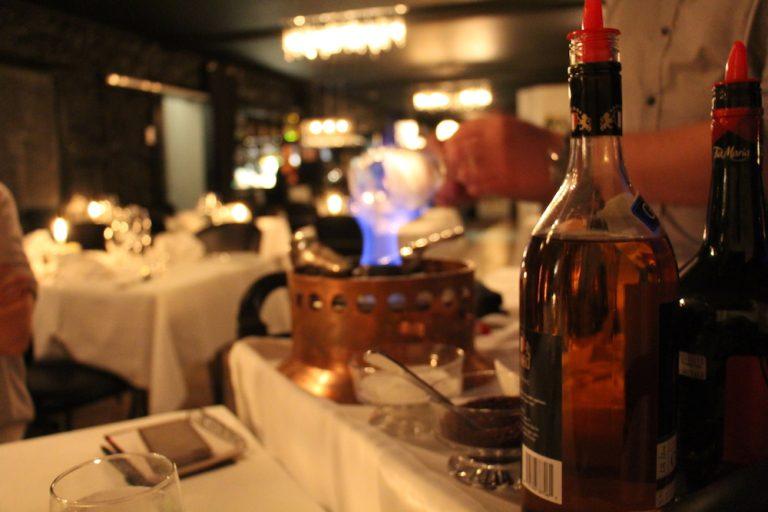 Café flambé au Rose et Basilic