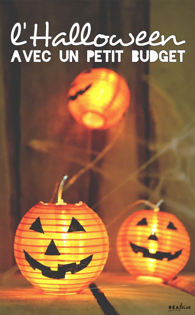 Image pour Pinterest : Halloween avec un petit budget