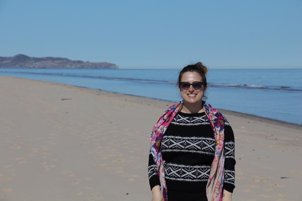 Moi à Sandy Hook aux îles de la Madeleine