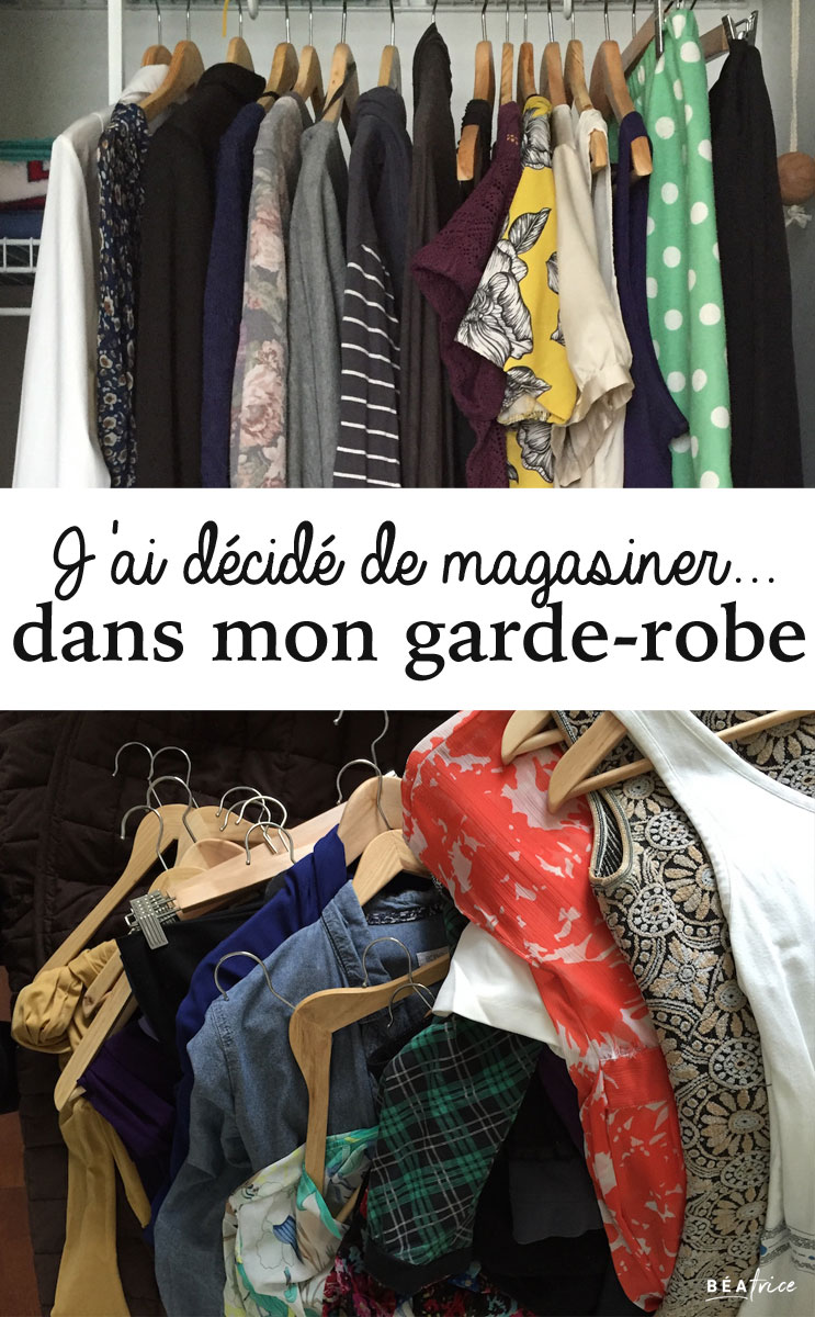 magasiner dans son garde-robe