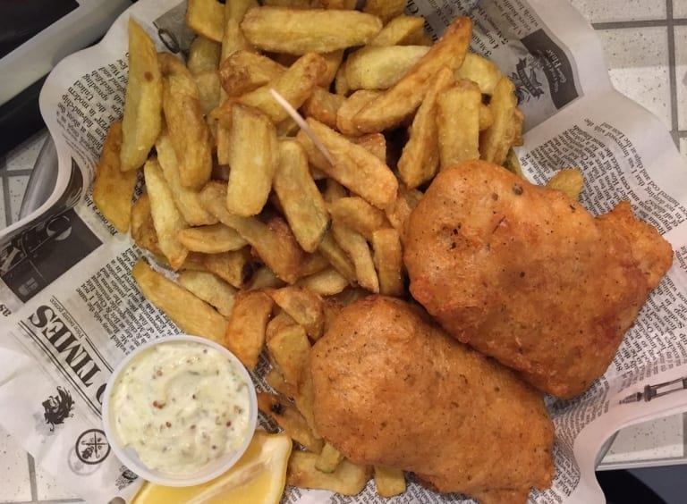 Fish and chips du Brit & Chips