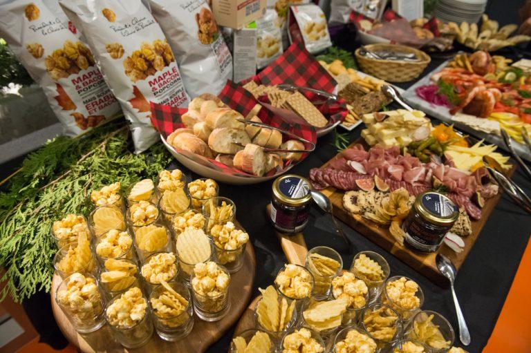 Nourriture lors d'un party de Noël