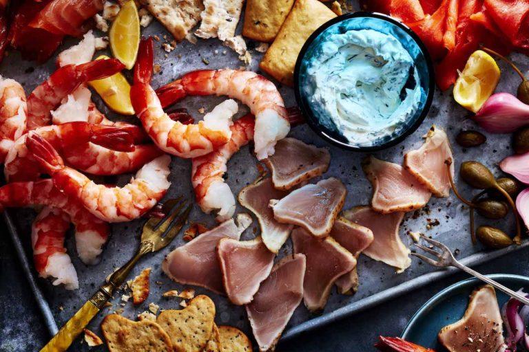 Présentation poissons et fruits de mer