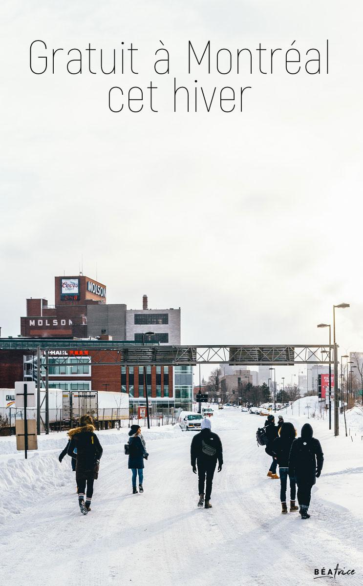 Image pour Pinterest : gratuit à montréal cet hiver